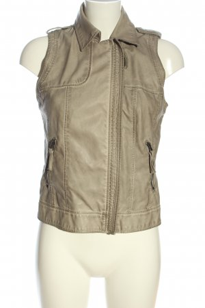 trf collections zara Biker Vest natural white casual look