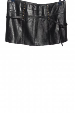 trf collections zara Leather Skirt black extravagant style