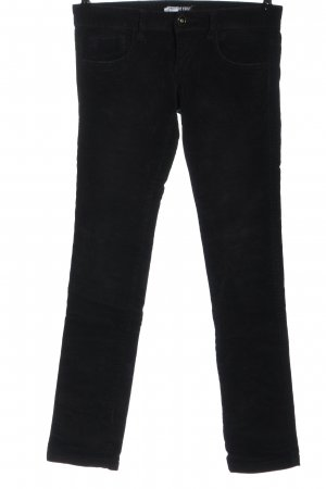 TRF Corduroy Trousers black casual look
