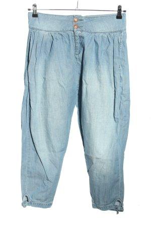 TRF Denim Pantalón estilo Harem azul look casual