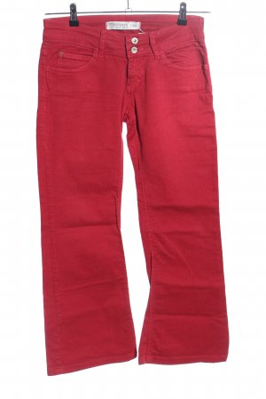 TRF Denim Jeansschlaghose rot Casual-Look