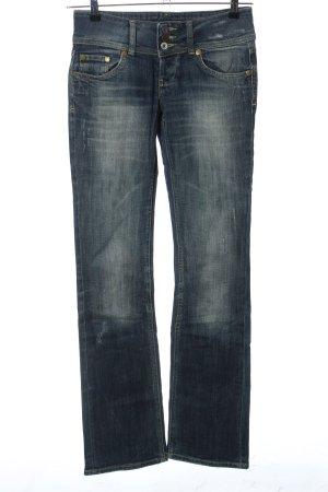 TRF Denim Jeansschlaghose blau Casual-Look
