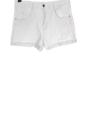 TRF Denim Pantalón corto de tela vaquera blanco look casual