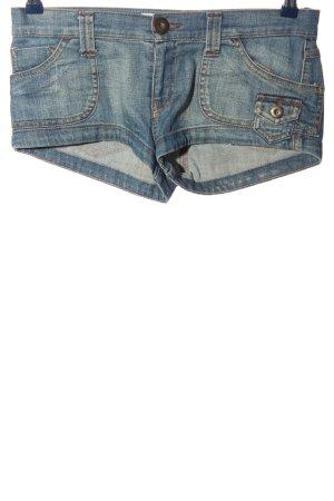 TRF Denim Pantalón corto de tela vaquera azul look casual