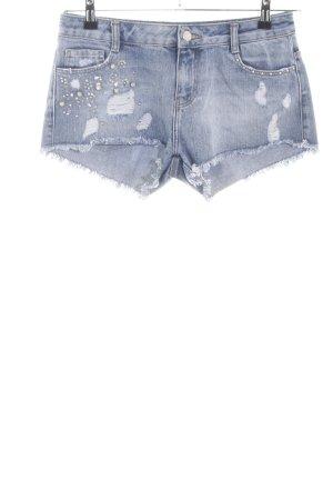TRF Denim Jeansshorts blau Casual-Look