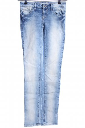 TRF Denim Röhrenjeans blau Casual-Look