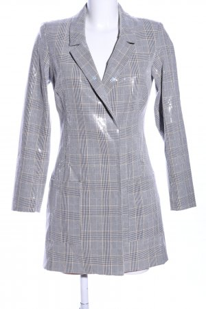 TRF Frock Coat light grey allover print elegant