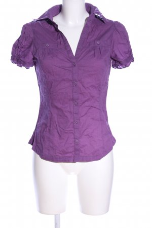 TRF Hemd-Bluse lila Casual-Look