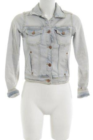 TRF Jeansjacke blau-weiß Casual-Look