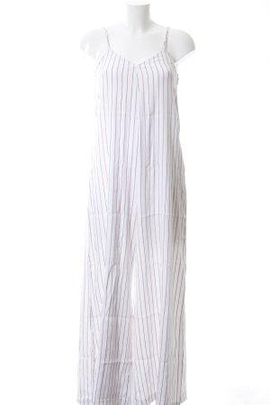 TRF Jumpsuit weiß-pink Streifenmuster Casual-Look