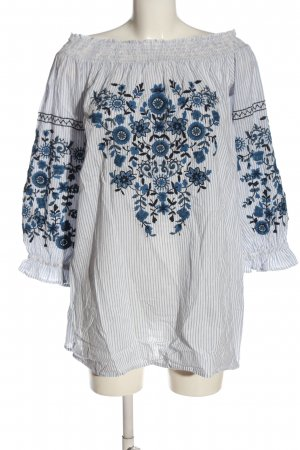 TRF Langarm-Bluse Allover-Druck Casual-Look