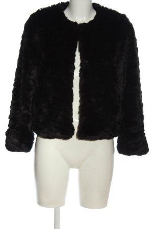 TRF Outwear Futrzana kurtka czarny W stylu casual