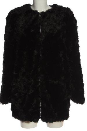 TRF Outwear Cappotto in eco pelliccia nero stile casual