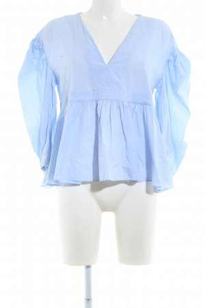 TRF Slip-over blouse blauw casual uitstraling