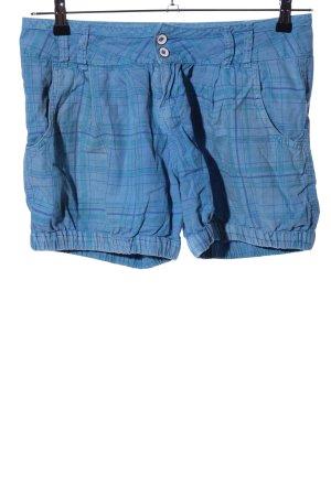 TRF Shorts blau Karomuster Casual-Look