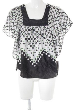 TRF Tunikabluse abstraktes Muster extravaganter Stil