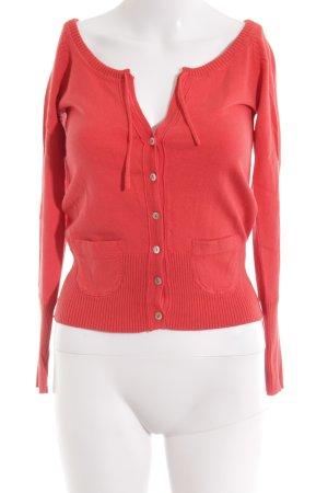 TRF Veste en laine rouge style romantique
