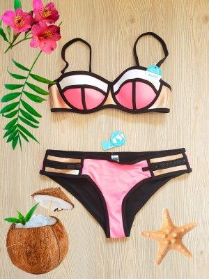 Triangel Balcony Bikini in pink