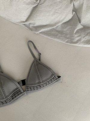 Triangl Bikini zilver-abrikoos