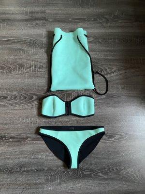 Triangl Bikini Neopren türkis neon blau Beutel Medium ungetragen
