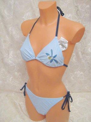 Triangle Bikini 36 70 B BLUE CHIPS Blau Bänder Neckholder