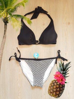 Triangle Bikini in schwarz-weiß