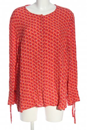 Triangle Hemd-Bluse rot-hellorange Allover-Druck Casual-Look