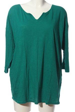 Triangle Kurzarm-Bluse grün meliert Casual-Look