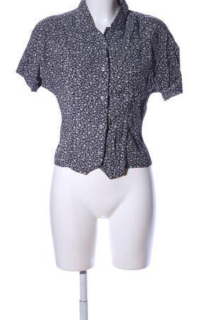 Triangle Camicia a maniche corte nero-bianco stampa integrale elegante