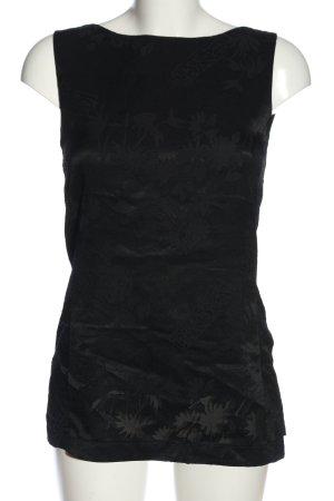 Triangle Schlupf-Bluse schwarz Blumenmuster Casual-Look