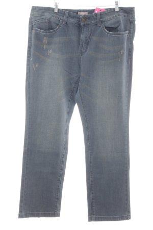 Triangle Straight-Leg Jeans kornblumenblau Casual-Look