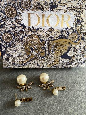 Dior Pendientes tipo aro color oro