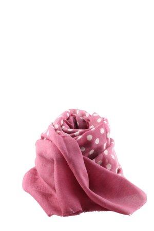 Tribalart Sommerschal pink-wollweiß Punktemuster Elegant