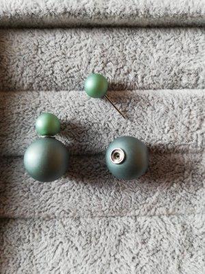 Tribales Double Pearl Ohrstecker Ohrringe grün 2farbig