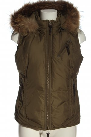 Tribeca New York Hooded Vest khaki casual look