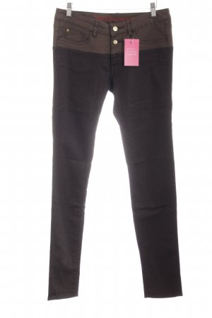 Tribeca New York Skinny Jeans braun Casual-Look