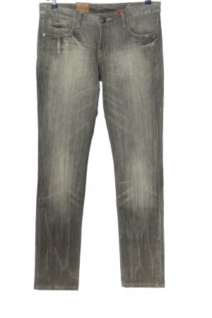 Tribeca New York Straight-Leg Jeans hellgrau Casual-Look