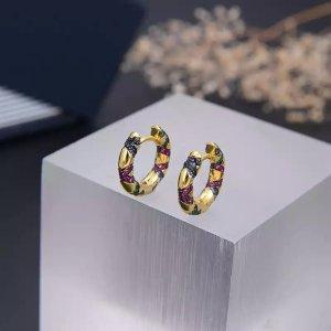 Pessina-Jewelry Boucles d'oreille en or multicolore