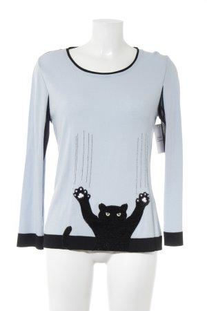 Tricot Chic Strickpullover schwarz-babyblau Casual-Look