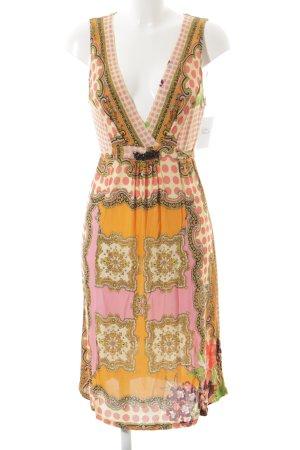 Tricot Chic schulterfreies Kleid grafisches Muster