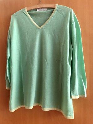 Le Tricot Longhin Cashmere Jumper mint-primrose