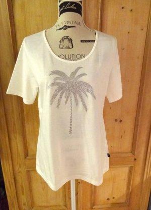 Trigema T-Shirt white-silver-colored cotton