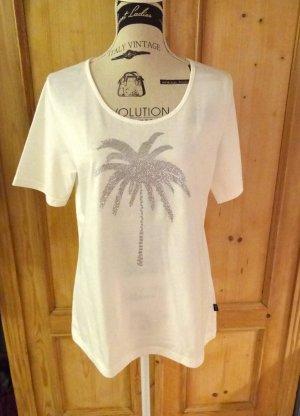 Trigema - hochwertiges Deluxe T-Shirt mit Pailletten/Zirkonia Applikationen - neu