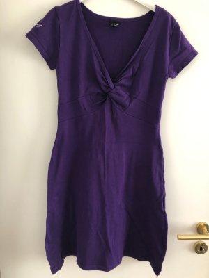 Trigema Vestido estilo camisa violeta oscuro