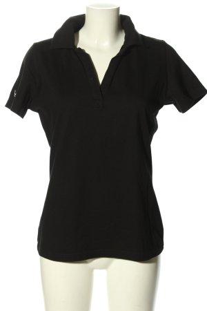 Trigema Polo Shirt black casual look