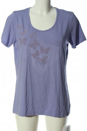 Trigema T-Shirt lilac casual look