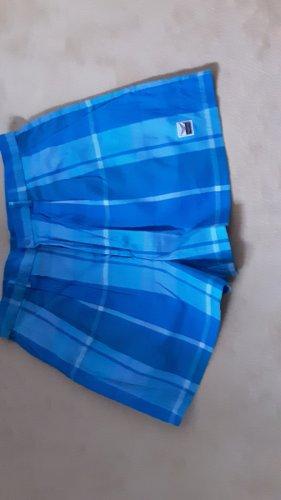 Trigema, Vintage Taillenshorts, Blautöne, Gr.36