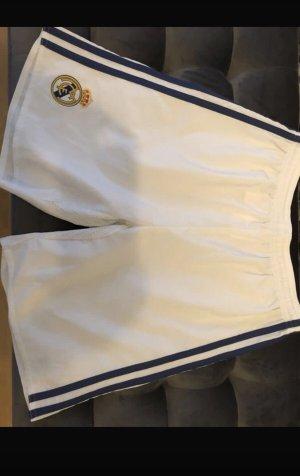 Adidas Pantalón corto deportivo blanco-azul oscuro
