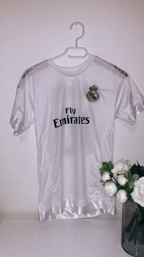 Trikot top sport real madrid fußball football weiß schwarz gym fitness