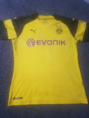 Sportshirt zwart-geel